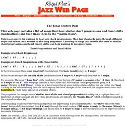 The Tonal Centers Page