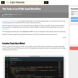 The Tools of an HTML Email Workflow