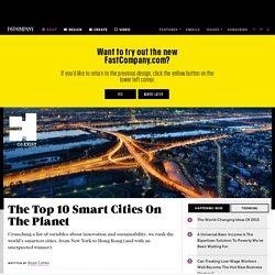 The Top 10 Smart Cities On The Planet