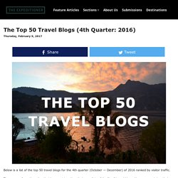 The Top 50 Travel Blogs (4th Quarter: 2013)
