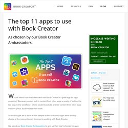 The top 11 apps to use with Book Creator