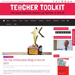The Top-10 Education Blogs in the UK 2015