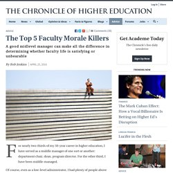 The Top 5 Faculty Morale Killers