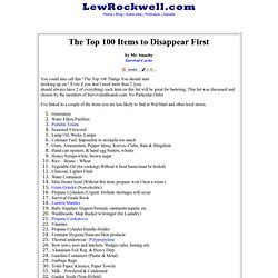 The Top 100 Items to Disappear First