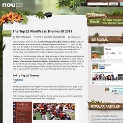 Le Top 25 WordPress Thèmes de 2011