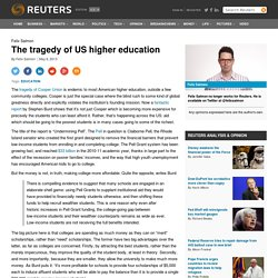 The tragedy of US higher education