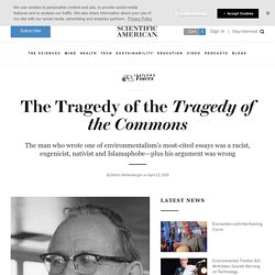 """The Tragedy of """"The Tragedy of the Commons"""""""