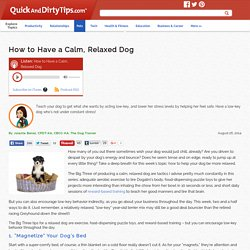 The Dog Trainer : How to Have a Calm, Relaxed Dog