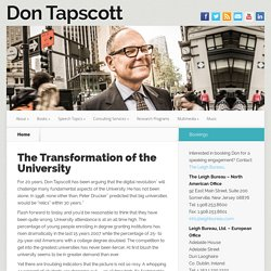 The Transformation of the University