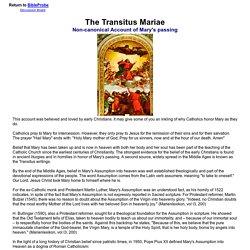The Transitus Mariae