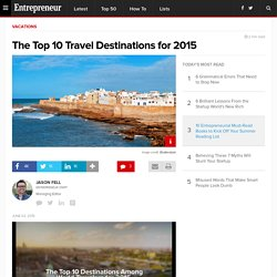 The Top 10 Travel Destinations for 2015