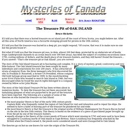 The Treasure Pit of OAK ISLAND