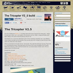 The Tricopter V2_5 build