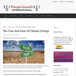 The True and False of Climate Change