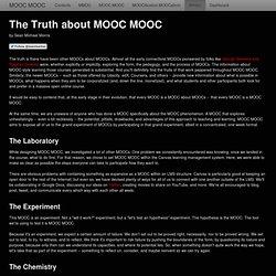 La vérité sur MOOC MOOC