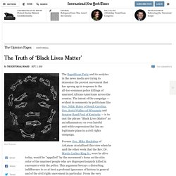 The Truth of 'Black Lives Matter'
