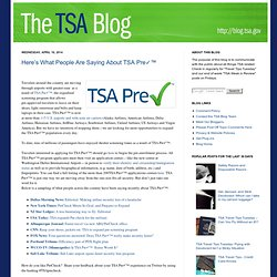 The TSA Blog