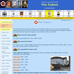 The Tudors Homework Help for kids