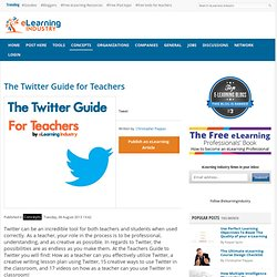 The Twitter Guide for Teachers