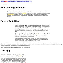 The Two Egg Problem
