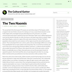The Two Naomis – The Cultural Gutter