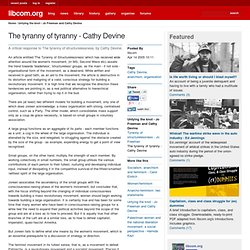 The tyranny of tyranny - Cathy Devine