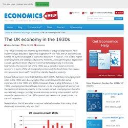 The UK economy in the 1930s