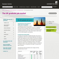 The UK graduate job market
