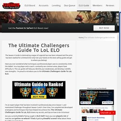 The Ultimate Challengers ELO Guide