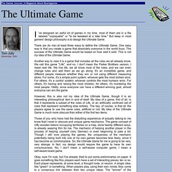 The Ultimate Game