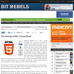 The Ultimate HTML 5 Cheat Sheet