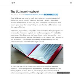 The Ultimate Notebook · Xaprb
