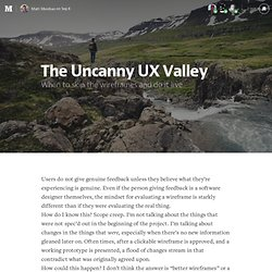 The Uncanny UX Valley
