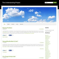 The Understanding Project - Blog