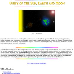 The Unity of the Sun, Earth and Moon