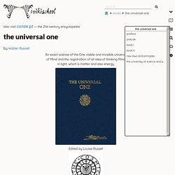 the universal one - Wikischool