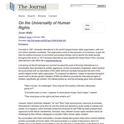 On the Universality of Human Rights