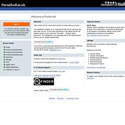 The University of Hull Portal