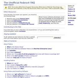 The Unofficial Fedora FAQ