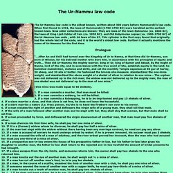 The Ur-Nammu law code