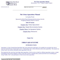 The Urban Aquaculture Manual