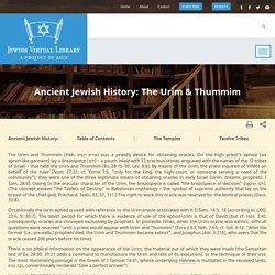 The Urim & Thummim