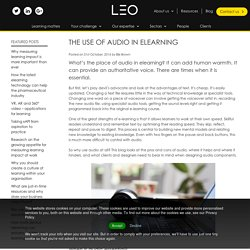 The use of audio in elearning - LEO