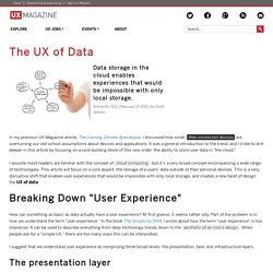 The UX of Data