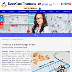 The Value of E-Prescribing Services