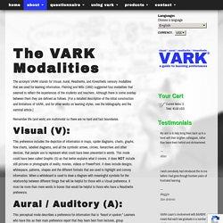 The VARK Modalities