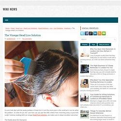 The Vinegar Head Lice Solutions ~ WIKI NEWS