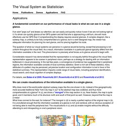 The Visual System as Statistician
