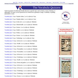 The Vocabula Review - The Vocabula Quizzes