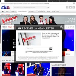 The Voice : la plus belle voix - Le site officiel de l'émission The Voice : la plus belle voix